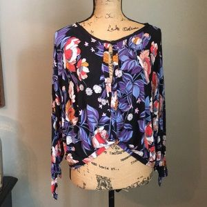 Free People Floral Top Xs